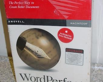 Novell WordPerfect V. 3.1 Upgrade for Vintage Apple Mac Macintosh System, New Sealed