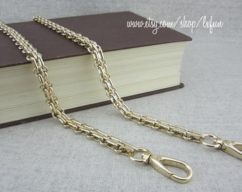 12mm Gold Color Chain Purse Strap, Iron Chain, Replacement Crossbody Bag Chain
