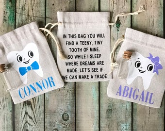 Tooth Fairy Bag   Personalized tooth fairy bag   Tooth Fairy Pouch   Childs Tooth Fairy bag