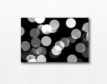 abstract art canvas print bokeh photography canvas art 12x18 24x36 fine art photography black and white canvas wrap home decor canvas art