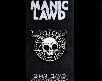 "Manicgram Pin - 1.5"" Black Nickel-Plated Pin by Manic Lawd"