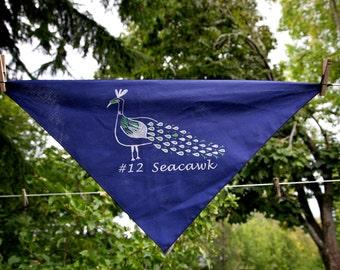 Dog Bandanna Seahawks Seacawk Navy Blue