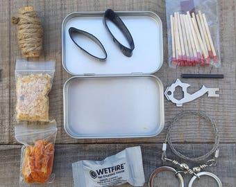 Fire starting kit emergency prepper kit Bug Out Bag kit FREE SHIPPING