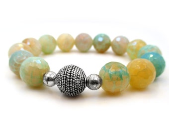 Gemstone Bracelet, Stretch Bracelet, Gift for Girlfriend, Boho Bracelet, Gift for Her, Gift for Mom, Girlfriend Gift, Handmade Jewelry