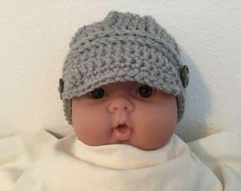 Newsboy baby beanie
