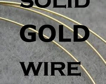 6'' SOLID GOLD WIRE14K Gold Wire, Round, 20 gauge 1/2 hard or deadsoft