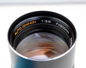 Auto Chinon f3.5 200mm M42 Screw Mount Prime Telephoto Camera Lens Manual Focus