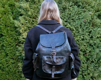 Beautiful Collected Vintage Leather Backpack