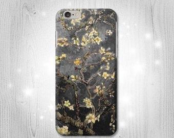 Black Almond Blossom Van Gogh Case iPhone X 8 8 Plus 7 6 5 SE Samsung Galaxy S8 S8+ S7 Edge S6 S5 Note J7 J3 A5 Asus Google Pixel HTC