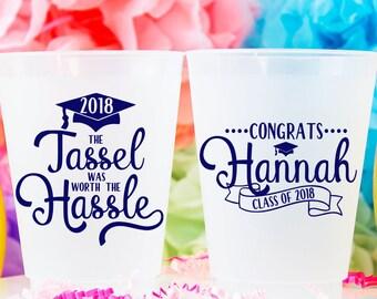 Graduation Party Cups, 2018 Graduation, High School Graduation, College Graduation, Congrats Grad, Plastic Cups, Graduation Favor