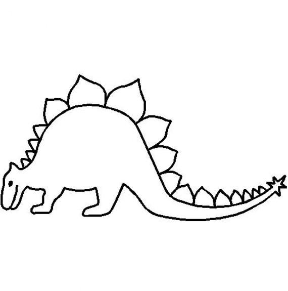 vorstellung schablone vorlage stegosaurus dinosaurier