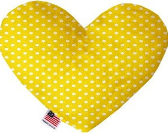 Polka Dot Stuffed Heart Dog Toy - Pick Your Color