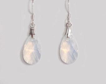Art Deco Earrings in Opal