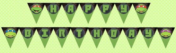 TMNT Ninja Turtle Invitation Twins Turtles Double Birthday Party Printable