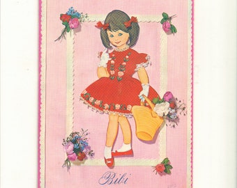 Vintage Pop-Up Danish Paper Doll Book