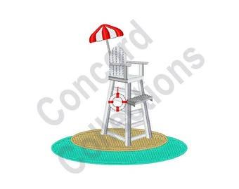 Lifeguard Stand - Machine Embroidery Design, Lifeguard