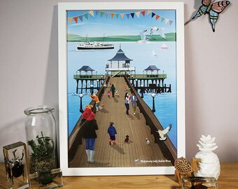 Clevedon Pier A3 poster, Somerset Prints