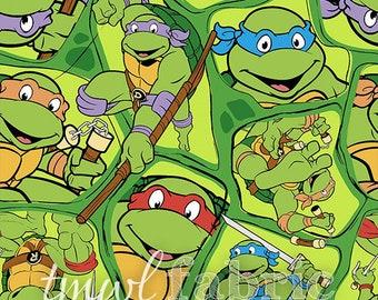 Woven Fabric - Nickelodeon Teenage Mutant Ninja Turtles Shell Toss - Fat Quarter Yard +