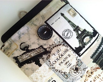 Kindle Case for Kindle Paperwhite, Kindle Oasis, Kindle Voyage, Kobo Touch, iPad Mini or other eReader, Parisian French Design Cover