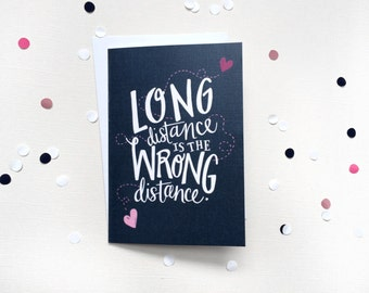 Funny Valentines Day Card - Long distance relationship