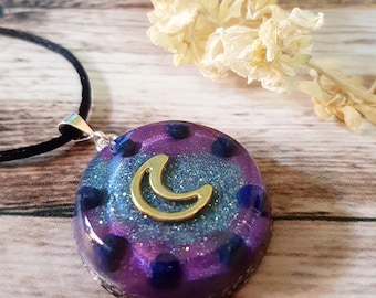 Lapis Lazuli Orgone Energy Pendant - Positive Energy Necklace - Spiritual Gift and Energy Healing Jewellery - OOAK - Medium