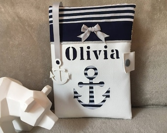 protects health record sailor Navy Blue and white, baby, birthday gift accessory