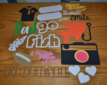 Dad Scrapbooking /Father Scrap Booking Set/Father Journaling/Dad Die Cuts/Scrap booking Embellishments