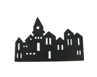 Paper Jerusalem Skyline Die Cut Set of 15