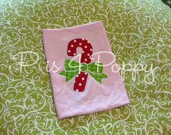 Candycane applique design instant download