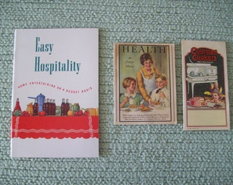 Advertising Booklets, Catalog, and Pamphlets 1920's-30's to 1963 Vintage (Lot of 6). Price Includes Shipping.