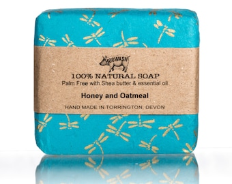 Honey Oatmeal Soap, Palm free, Shea Butter, Hand made, Natural soap. cold process, handmade, gifts for her, Natural skincare