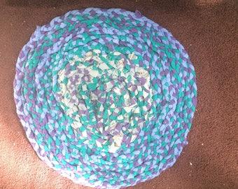 Handmade braided t-shirt rug
