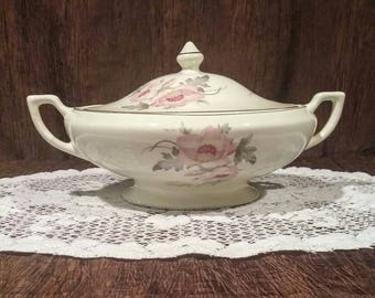 Vintage covered vegetable dish, free shipping