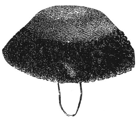 AG1579 1868 Velvet Toque Schnittmuster durch zeitlose Muster