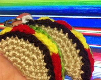 Crochet Taco and Burrito Keychains
