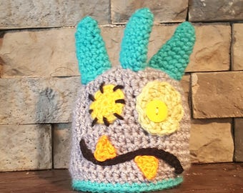 Monster Hat - Made To Order - You Choose Colors