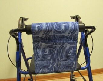 Walker Tote or Bag pattern is Blue oil slick print (#687 )