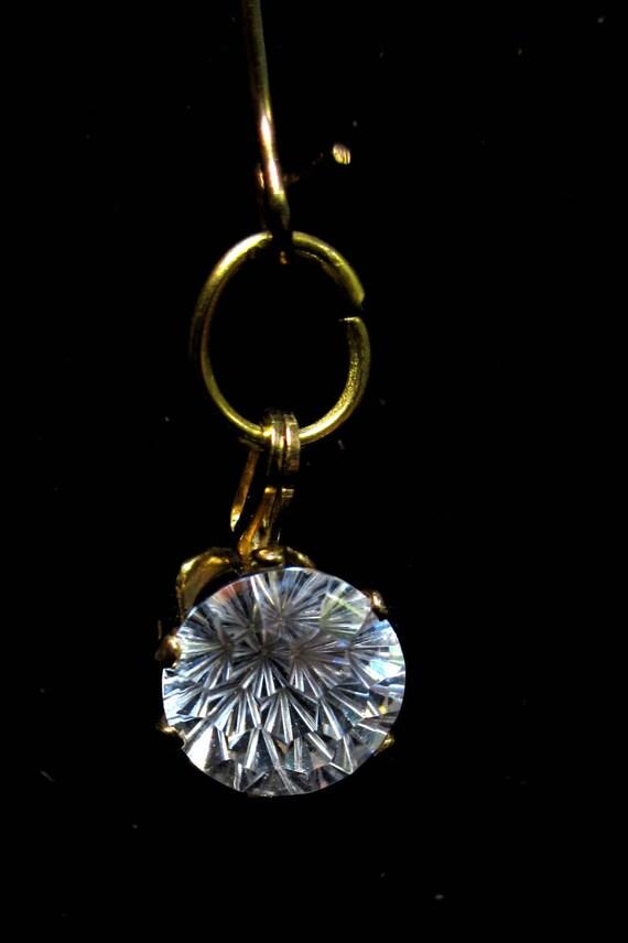 Earrings J Diamond earrings in silver bezels April birthstone 10ct