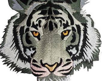 Tiger head embroidery file 13 x 18 + 20 x 20