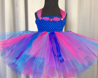 Bright multi color fairy tutu dress w/matching headband & wings; birthday outfit; fairy costume for babies; fairy costume for little girls