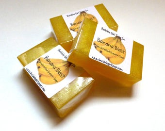 Banana Blast MINI GUEST Size Vegan Glycerin Handmade Soap Bar