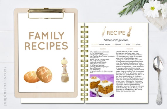 word template for recipes