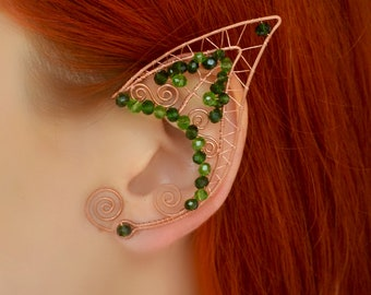 Elf Ears * Enchanted Forest Wire Fairy Elf ear cuffs