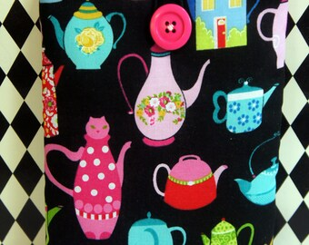 Kindle Cover Sleeve ~ Teapots