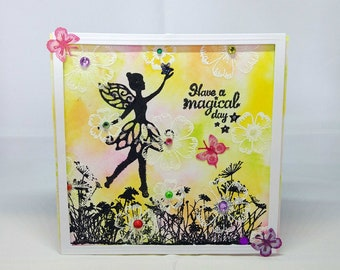 Female/Girl - Fairy/Magic/Fantasy Birthday Card - luxury quality bespoke UK - Mum/Grandma/Daughter/Aunt/Niece/Sister