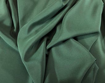 "3yd Remnant 100% Silk Crepe De Chine 54""w Green"