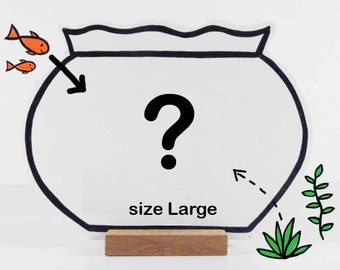 Your personalized wooden Fishbowl. Compose your own bowl with a maximum of 7 fishes or props.