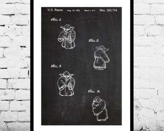 Star Wars Patent, Yoda Poster, Yoda Print, Yoda Art, Yoda Decor, Yoda Wall Art, Yoda Blueprint