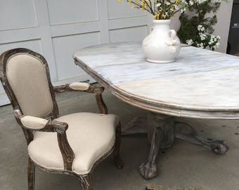 Fabulous Restoration Hardware Look Clawfoot Dining Table