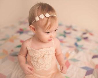 IVORY HEADBAND, Ivory Headband Baby, Photography Prop, Headbands, Infant Headbands, Newborn Headbands, Baby Headbands, Newborn Photo Prop